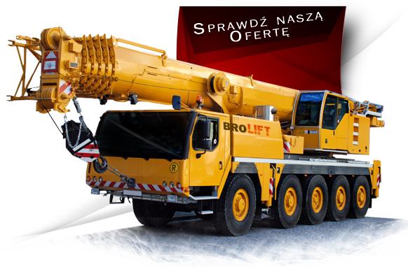Usługi dźwigowe i podnośnikowe Wynajem sprzętu budowlanego